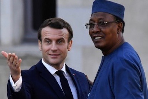 French president Emmanuel Macron and Chadian president Idriss Déby. (Francois Mori/AFP).