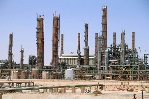 Ra's Lanuf Oil Refinery in northern Libya. (AFP)