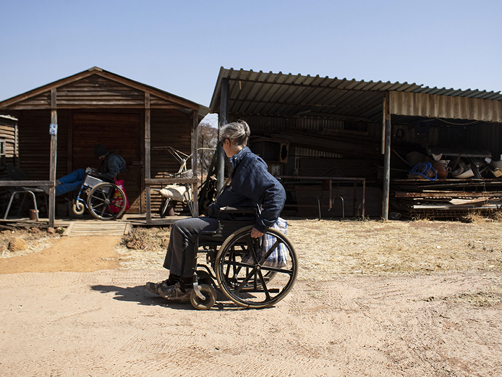 Kosmos, Tshwane. Disabled men and women contribute with their pensions to the sustenance of the community. ©Manash Das.
