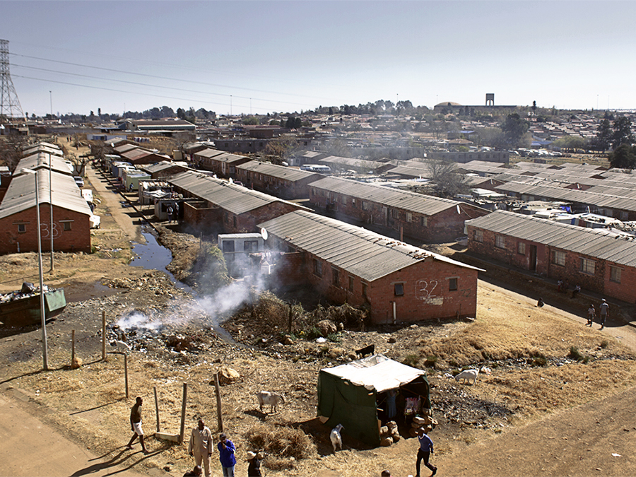 MDA_20200630_10 – Soweto, Johannesburg. The aerial view of the Jabulani Hostel, which once used to be home to the mining immigrant force. ©Manash Das.