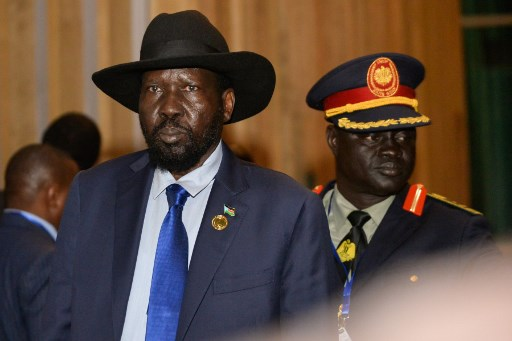 South Sudanese President Salva Kiir arrives for talks at the African Union aimed at forming a power-sharing government ahead of a February 22 deadline, in Addis Ababa on February 08, 2020, Michael Toweled/AFP