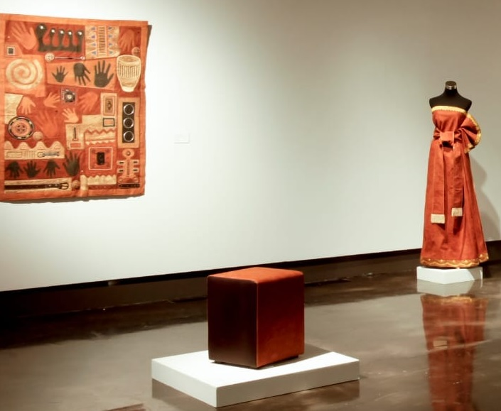 A Ugandan bark cloth exhibition in Texas. Photo by Lesli Robertson