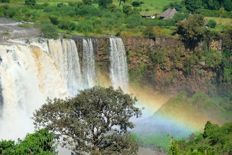 A waterfall on the Blue Nile in Ethiopia