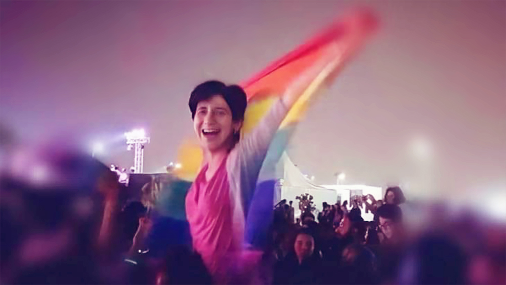 In October 2017, Egyptian security forces arrested LGBT activist Sarah Hegazy for raising the rainbow flag at a Mashrou' Leila concert in Egypt.